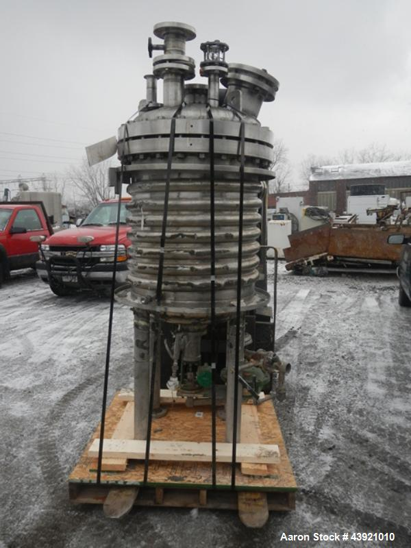 "Used- Northland Stainless Reactor, 150 Gallon. Hastelloy C275 construction, approximate 30"" x 30"" straight side. Internal ra..."