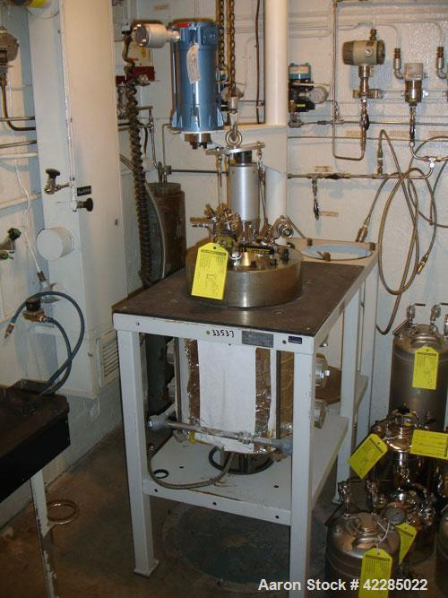 Used- Parr Reactor, 5 Gallon, Hastelloy C. Internal rated 2000 psi at 350 deg F. Electrically heated. Mounted on a  stand wi...