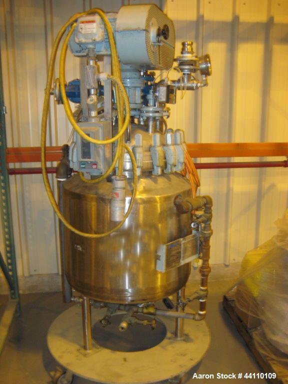 Used- 30 Gallon Pfaudler Hastelloy C-276 Reactor