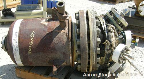 """Used- Pfaudler Reactor, 15 Gallon, Hastelloy B-2, vertical. Approximately 13"""" diameter x 22"""" straight side. Dished bolt on t..."""