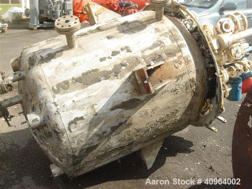 "Used- Pfaudler Reactor, 300 Gallon, Hastelloy C-276, Vertical. Approximately 40"" diameter x 36"" straight side. 2 to 1 ellipt..."