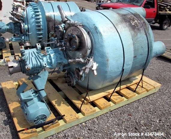 "Used- Pfaudler Reactor, 200 Gallon, Hastelloy C276, Vertical. Approximately 39"" diameter x 31"" straight side, semi elliptica..."