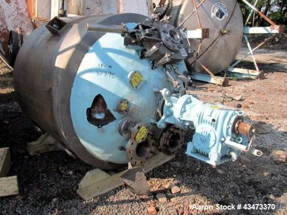 "Used- Precision Reactor, 300 Gallon, Hastelloy C276 Construction. Approximately 48"" diameter x 63"" straight side, semi ellip..."