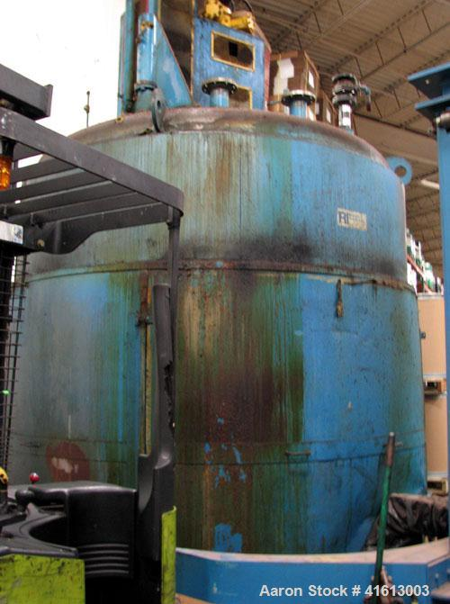 Used-Reynolds Resin Kettle, approximately 3,500 gallons, carbon steel. Hydraulic drive with power pack. More information wil...