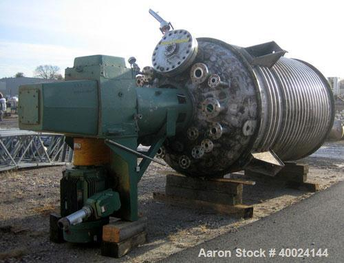Used- Roben Reactor, 2500 Gallon, Hastelloy C276, Vertical. 6' diameter x 9' straight side, elliptical top and bottom. Inter...