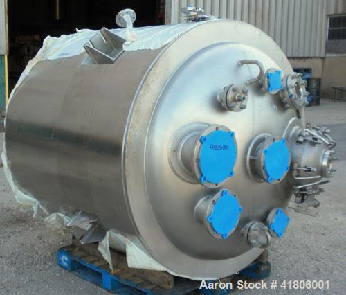 "Unused- Roben Manufacturing Reactor, 500 Gallon, Hastelloy C22, Vertical. 54"" diameter x 47"" straight side, dished top and b..."