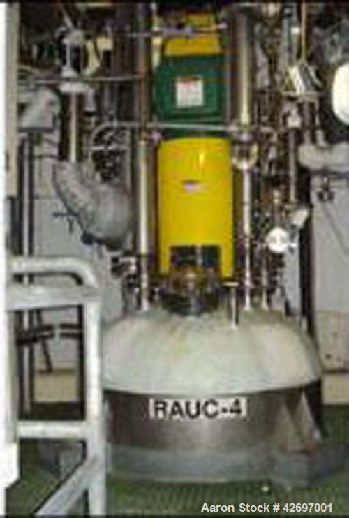 "Used-Roben Reactor, 500 Gallon, Hastelloy C Construction. 48"" diameter x 57"" straight side, semi-elliptical top and bottom, ..."