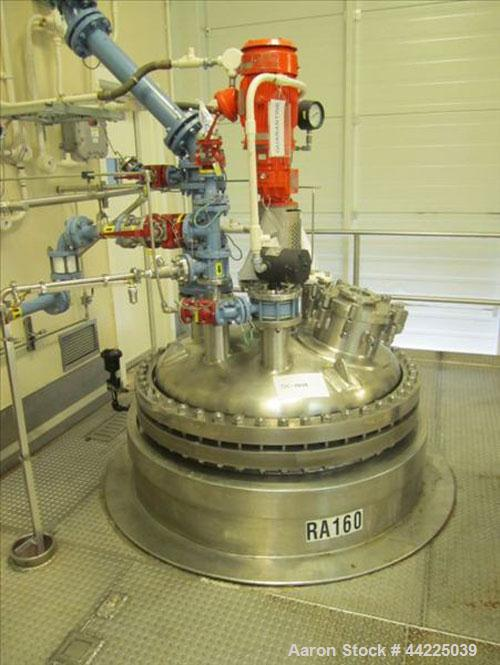 Used- Robert Mitchell Reactor, 300 Gallon, Hastelloy C276. Bolt-on dish top, dished bottom. Internal rated 100 psi and full ...