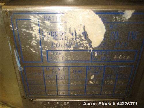 Used- Robert Mitchell Reactor, 50 Gallon, Hastelloy C276. Bolt-on dish top, dished bottom. Internal rated 100 psi and full v...