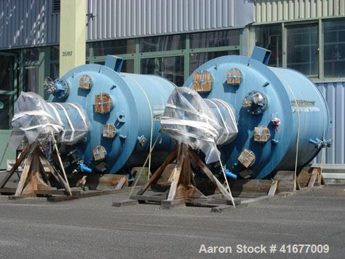 Unused-Dedietrich Glass Lined Reactor, type BE6300. Total capacity 1984 gallons (7500 liters), working capacity 1667 gallons...