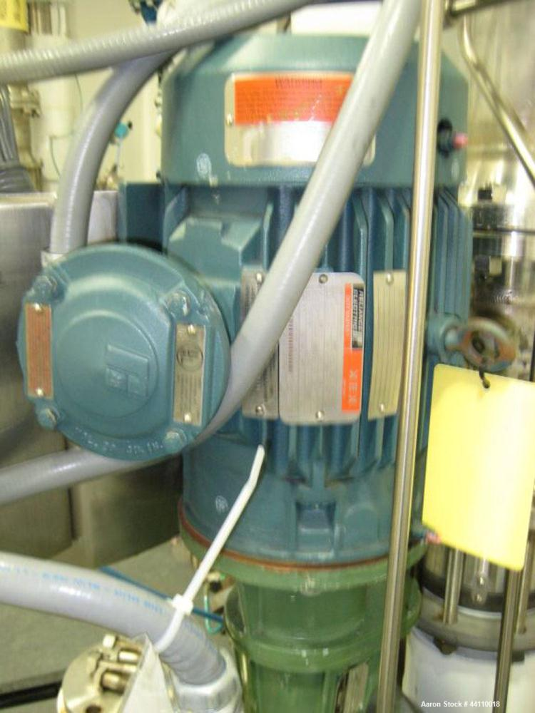 Used- DeDietrich Glass Lined Reactor, 100 Gallon. Internal rated 100 psi & Full Vacuum at 500 degrees F, jacket rated 150 ps...