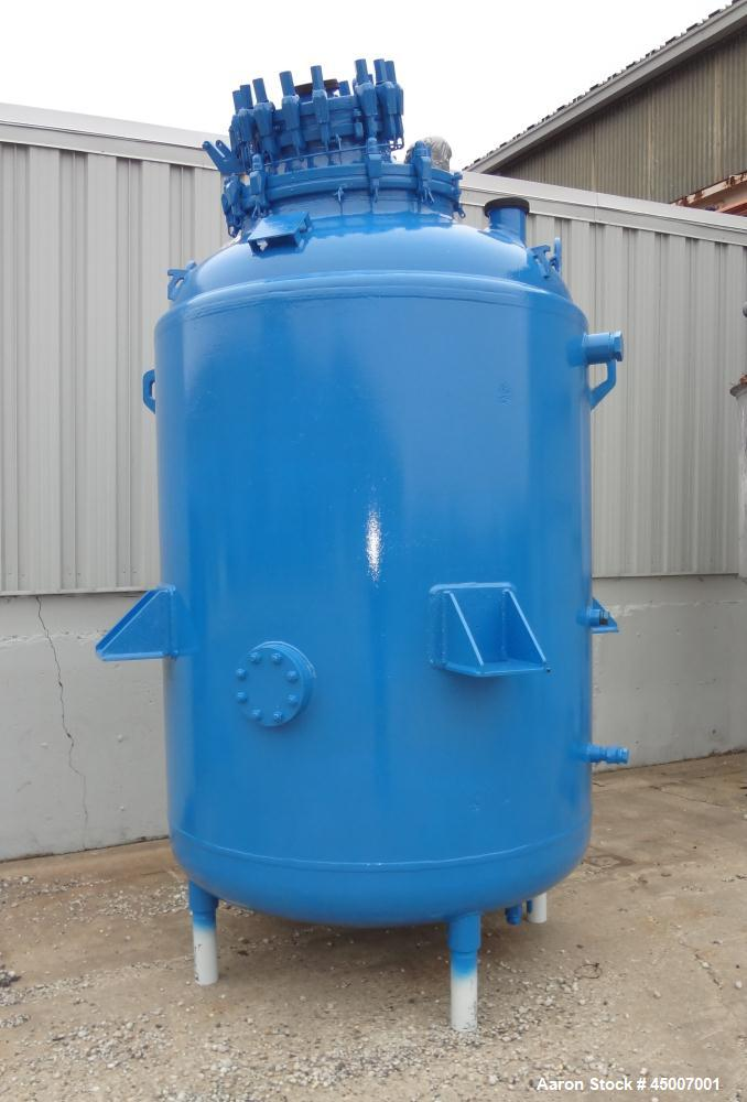 "Used- DeDietrich 1000 Gallon Glass Lined Reactor Body with 30"" great cover and 14"" x 18"" oval manway with cover. Model SA-10..."
