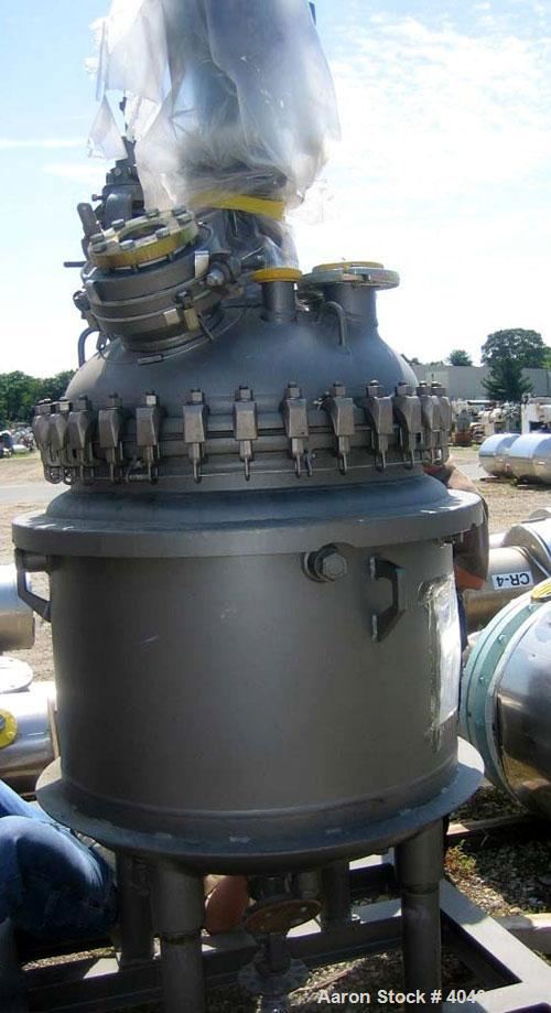 Unused- De Dietrich clamp top glass lined reactor, 100 gallon, 3009 glass, vertical. Internal rated 150 psi/fv at 500 deg F,...