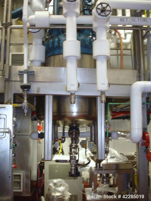 Used- DeDietrich Glass Lined Reactor, 100 Gallon, 3009 Glass. Internal rated 150 psi and full vacuum at 500 deg F. Jacket ra...