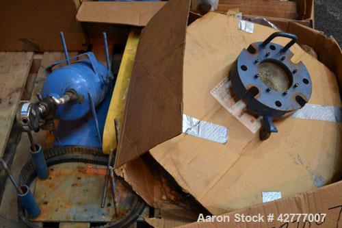 Used- De Dietrich Clamp Top Glass Lined Reactor, 30 Gallon, 9115 Blue Glass. Vertical. Approximately 19-1/2 diameter x 24 st...