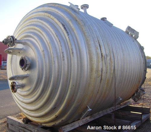 Used- 2000 Gallon De Dietrich Closed Top Glass Lined Reactor