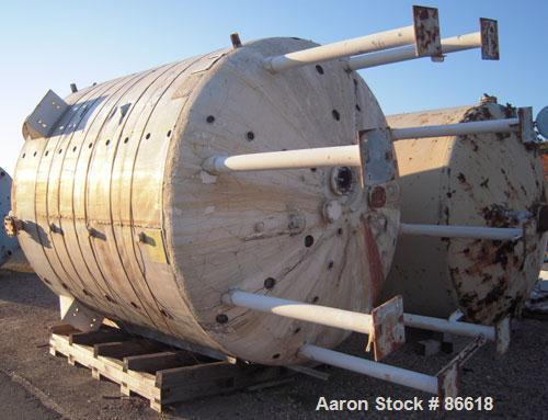 Used- De Dietrich Glass Lined Reactor Body, 5000 Gallon, 3008 Blue Glass, Vertical. Approximately 108'' diameter x 108'' str...
