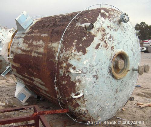 "Used- Pfaudler K Series Glass Lined Reactor, 2000 gallon, 9129 white glass, model KC-78-2000-100-90. 78"" diameter x 84"" stra..."