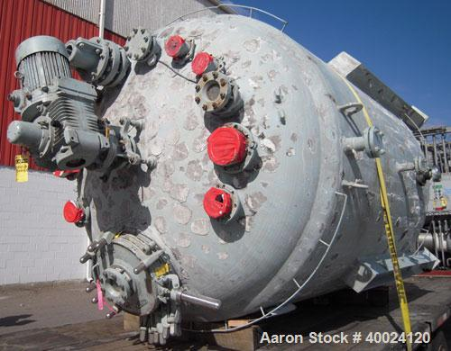 "Used- Pfaudler K Series Glass Lined Reactor, 2500 gallon, 9129 white glass, model KC-84-2500-100-90. 84"" diameter x 94"" stra..."