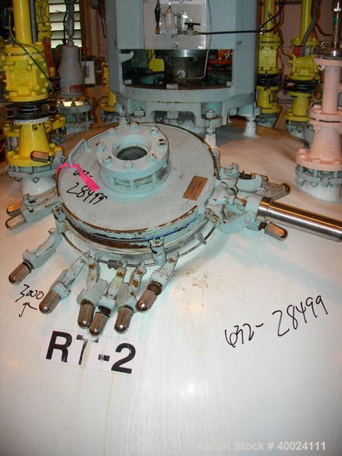 "Used: Pfaudler K series glass lined reactor, 3000 gallon, 9129 white glass, model KC-84-3000-100-90.84"" diameter x 112"" stra..."