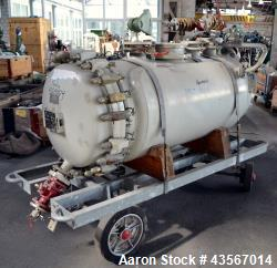 Used- De Dietrich Glass Lined Reactor, 670 Liter (177 Gallon), 3008 Glass, Horizontal. Approximate 28'' diameter x 60'' stra...