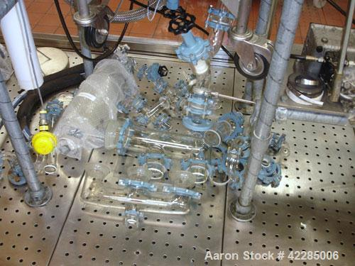 Used- Buchi Reactor Train consisting of: (1) Buchi 70 liter glass reactor, removable dish top, dish bottom. Internal rated -...