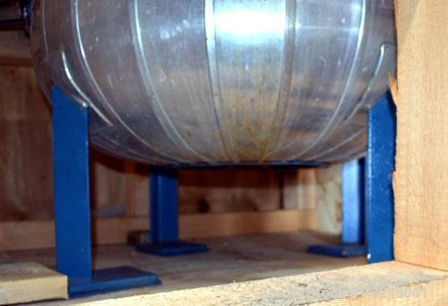 "Used- Technoglass Glass Lined Reactor, 210 Liter (55.4 Gallon), Vertical. Approximate 24"" diameter x 24"" straight side. Clam..."