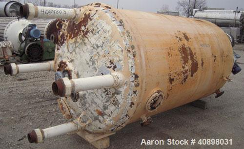 Used- Pfaudler Glass Lined Reactor, 1000 gallon, model JCW 54-1000. 5029 white glass with calibration lines. Internal rated ...