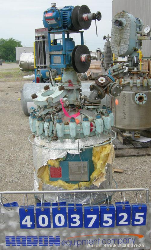 "Used- Pfaudler Glass Lined Clamp Top Reactor, 30 gallon, 9115 glass, vertical. Approximately 22"" diameter x 22"" straight sid..."