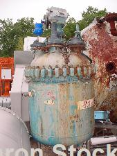 "Used-Pfaulder 100 Gallon Glass Lined Reactor.  30"" Diameter x 32"" with dished top/bottom, vertical; 8"" tsg, (4) 4"" ti, 3"" tc..."