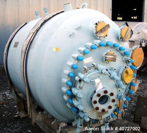 """Unused- Pfaudler Glass Lined Reactor Body, 750 gallon. 60"""" diameter x 56"""" straight side, dished top and botoom. 9129 glass w..."""