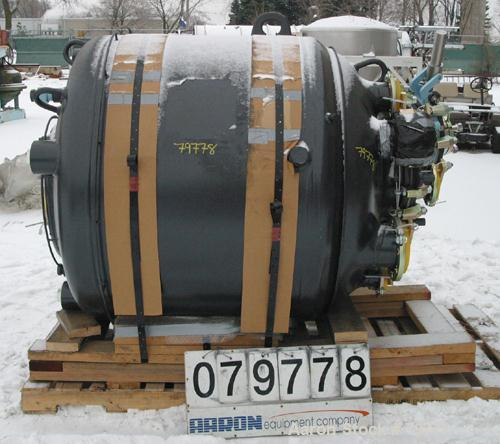 """Unused-UNUSED: Pfaudler glass lined reactor body, 300 gallon, RA48-300-150-90. 48"""" diameter x 33"""" straight side. Dished top ..."""