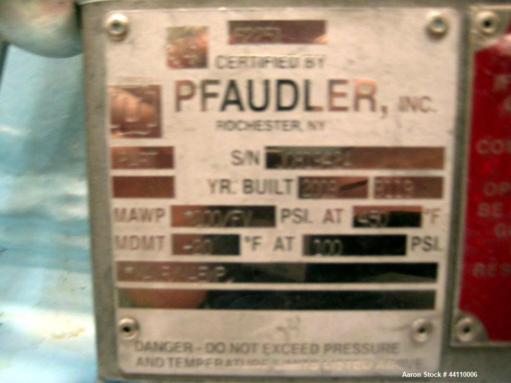 Used- Pfaudler Glass Lined Reactor, 200 Gallon. Internal rated 100 psi & Full Vacuum at 450 degrees F, jacket rated 120 psi ...
