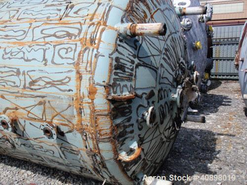 Used- Pfaudler Glass Lined Reactor, 2000 Gallon. 9129 glass. Internal rated 100 psi/fv at 450 deg F, jacket rated 90 psi at ...