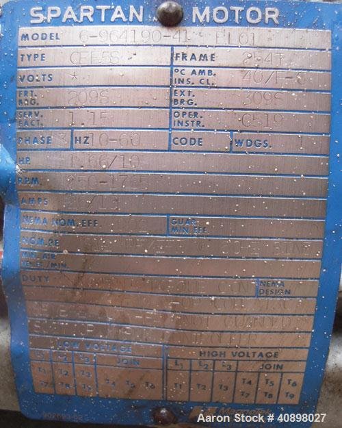 Used- Pfaudler Glass Lined Reactor, 1000 gallon, 9129 white glass with calibration lines, vertical. Internal rated 100 psi/f...