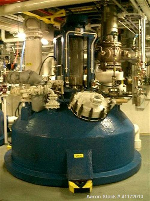 Used- Pfaudler Glass Lined Reactor, approximately 2114 gallon (8,000 litre working capacity), vertical. Top mounted Pfaudler...