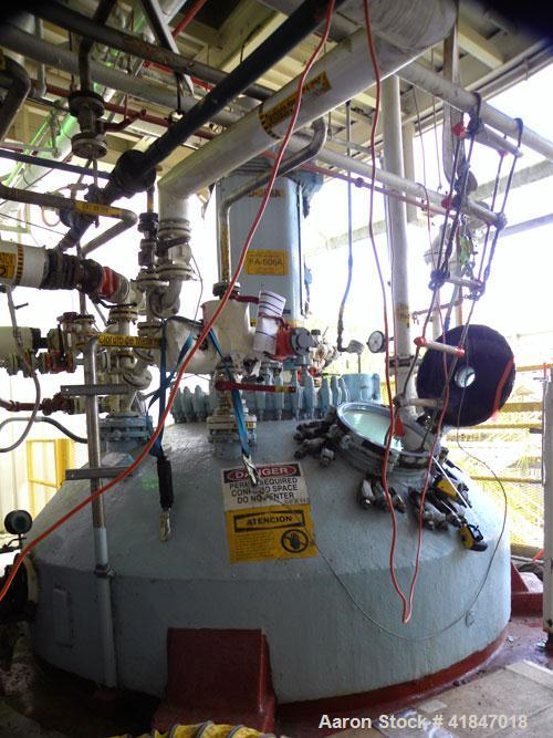"Used- Pfaudler Glass Lined Reactor, 4000 Gallon, 9129 White Glass With Calibration Lines, Vertical. Approximately 96"" diamet..."
