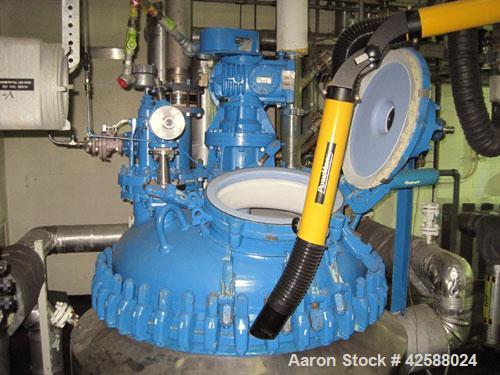 """Used- Pfaudler Glass Lined Reactor, 200 Gallon, Model E40-200-100-150. 40"""" Diameter x 30"""" straight side. 2:1 Elliptical bolt..."""