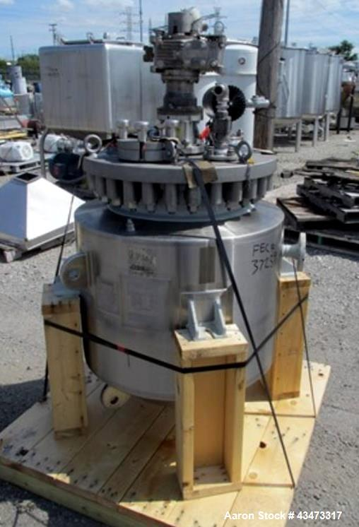 Used- Pfaudler 30 Gallon Glass Lined Reactor. 316L Stainless steel glass lined removable flat top, carbon steel glass lined ...