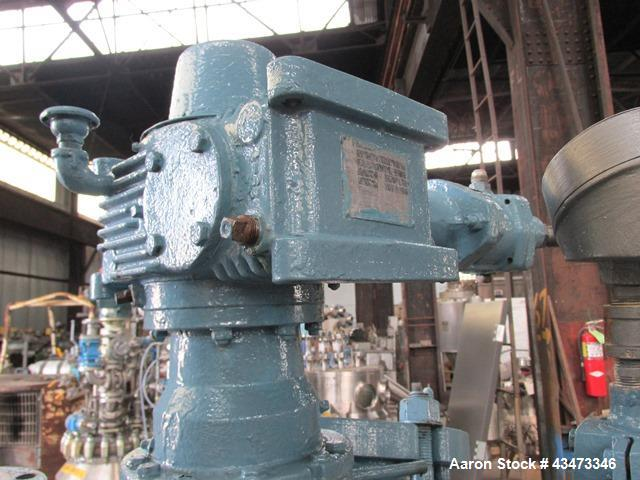 Used- Pfaudler Glass Lined Reactor, 100 Gallon, 5019 Glass. Internal rated 100 psi & Full Vacuum at 450 degrees F. Jacket ra...