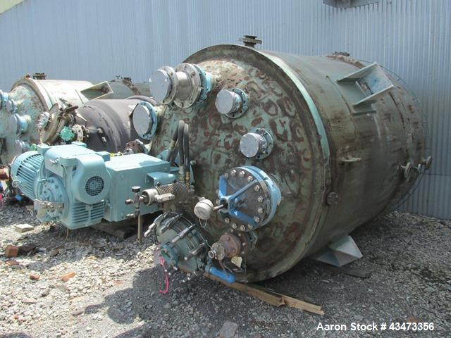 Used- Pfaudler Glass Lined Reactor, 2000 Gallon. Internal rated 100 psi & Full Vacuum at 450 degrees F. Jacket rated 90 psi ...