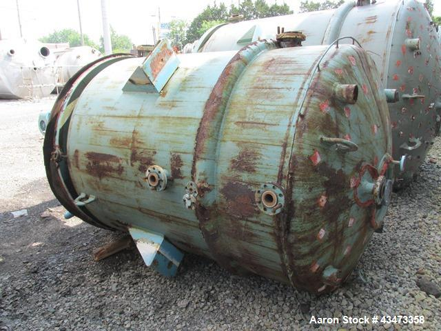 Used- Pfaudler Glass Lined Reactor, 1000 Gallon. Internal rated 100 psi & Full Vacuum at 450 degrees F. Jacket rated 90 psi ...