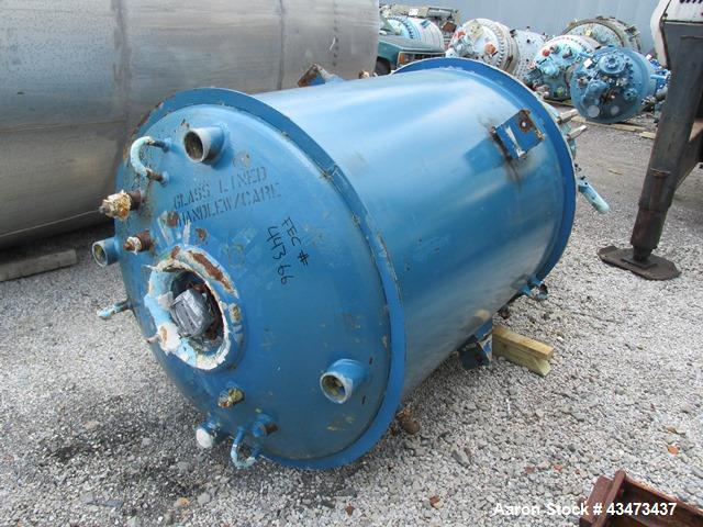 Pfaudler Glass Lined Reactor, 500 Gallon. Internal rated 100 psi & Full Vacuum at 450 degrees F. Jacket rated 100 psi at 450...