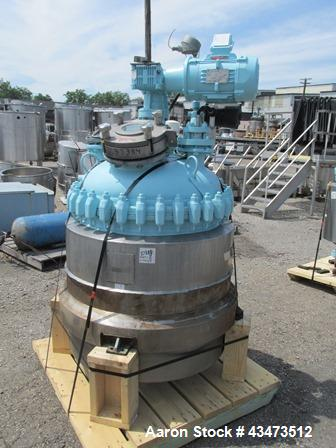 Used- Pfaudler Glass Lined Reactor, 50 Gallon, 5115 Glass. Internal rated 100 psi & Full Vacuum at 450 degrees F. Jacket rat...