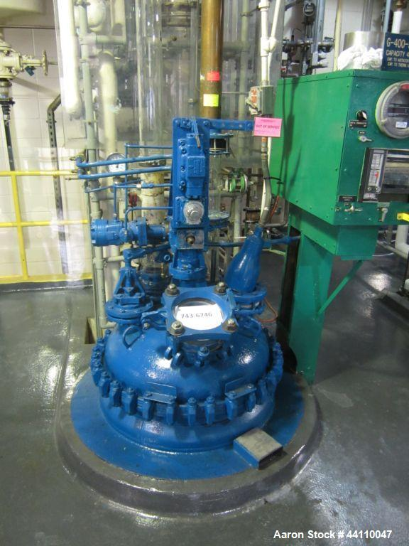 Used- 100 Gallon Glass Lined Pfaudler Reactor