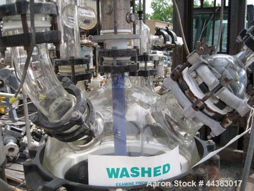 """Used- Pfaudler Glass Lined Kilo Reactor, 10 gallon glass lined body approximately 18"""" diameter x 12"""" straight side, dish bot..."""