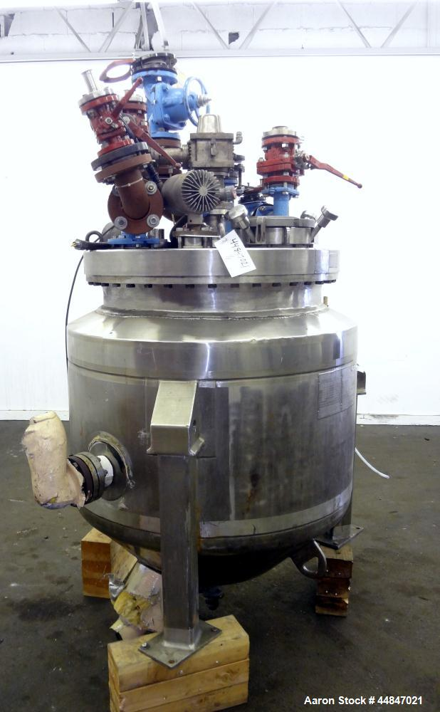 Used- 100 Gallon Pfaudler Bolt Top Glass Lined Reactor