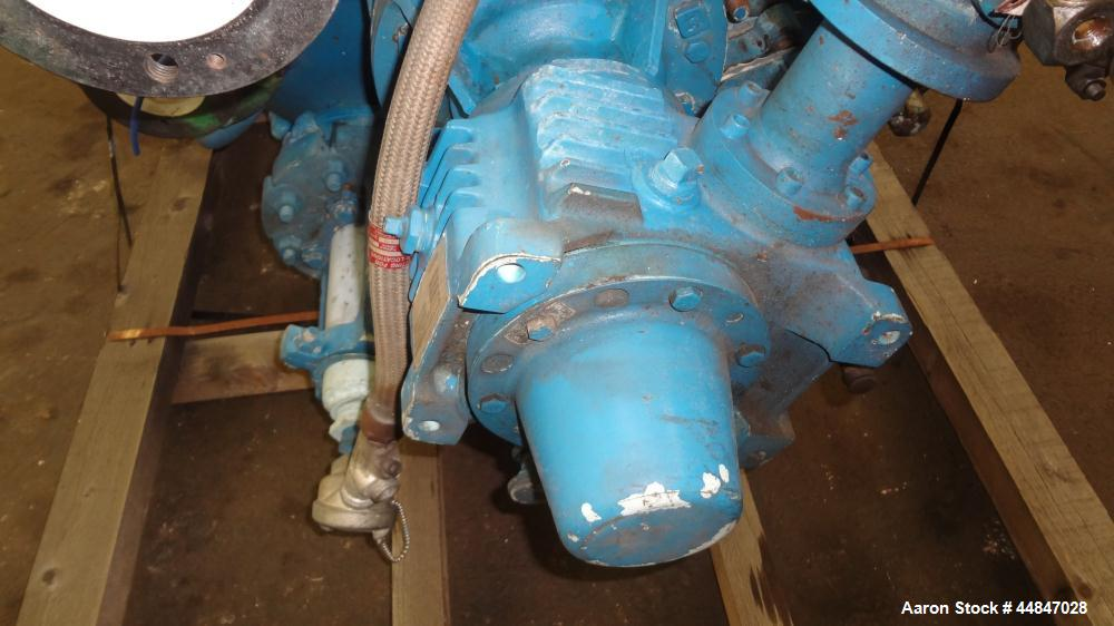 Used- Pfaudler Clamp Top Glass Lined Reactor, 200 Gallons, 9115 Blue Glass, Vert
