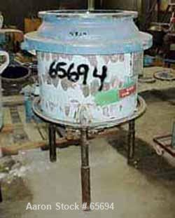 """Used- Pfaudler 50 Gallon Clamp Top Reactor, Glass Lined. 24"""" ID x 16"""" straight side. Internal rating 25 psi/FV @ 450 deg F. ..."""