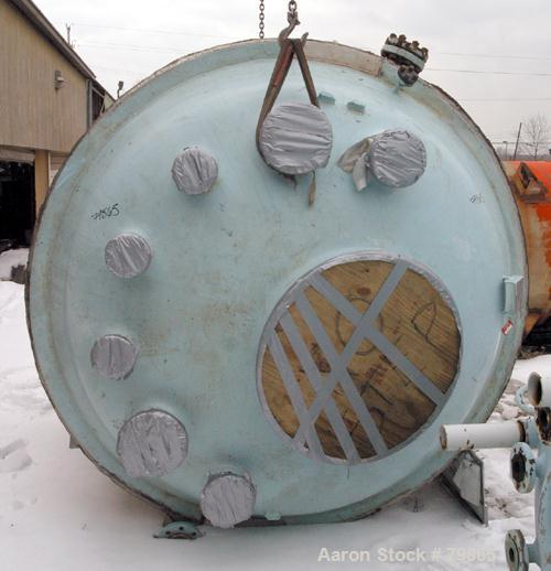 "USED: Pfaudler glass lined reactor body, 1500 gallon, 9129 white  glass, vertical. 78"" diameter x 65"" straight side. Dish to..."